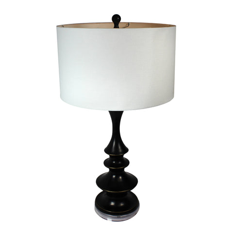 Urban Designs Verano Tall Contemporary Black Table Lamp - Set of 2