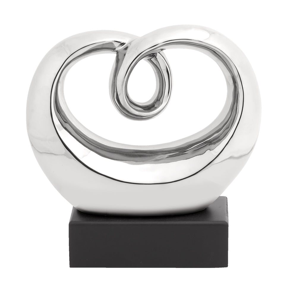Decorative Perfect Polished Abstract Whirling Tabletop Sculpture