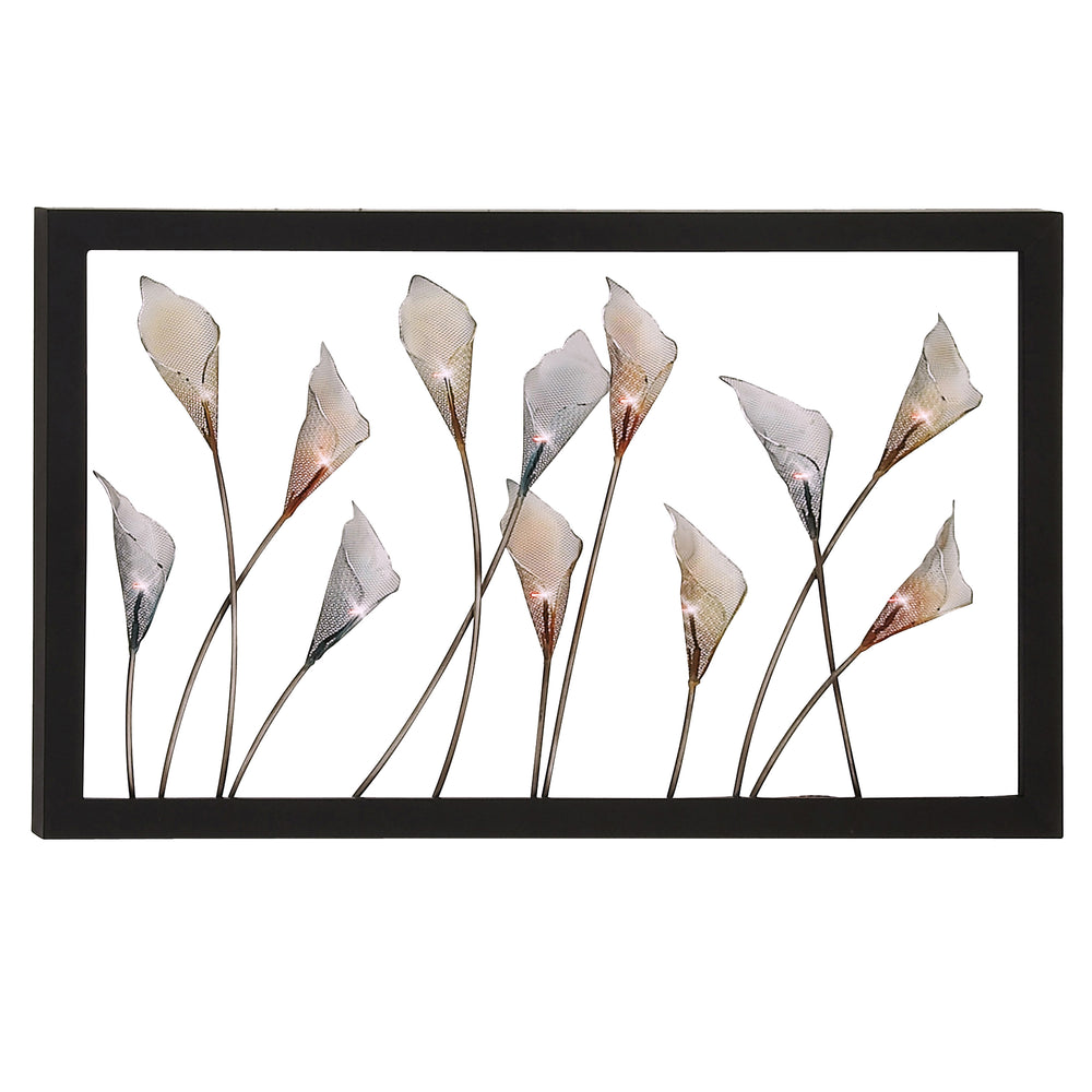 Urban Designs Bloom Large Hand-crafted LED Lighted Metal Wall Art Decor