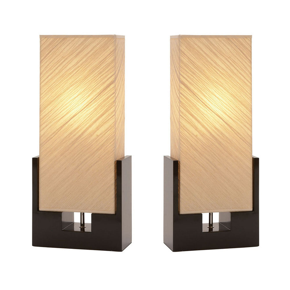 Urban Designs Alice Polystone Table Lamp - Set of 2