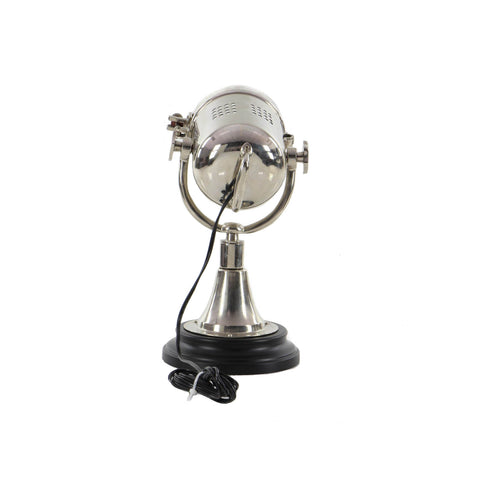 Urban Designs Cord-n-Plug Brushed Aluminum Accent Spotlight Table Lamp