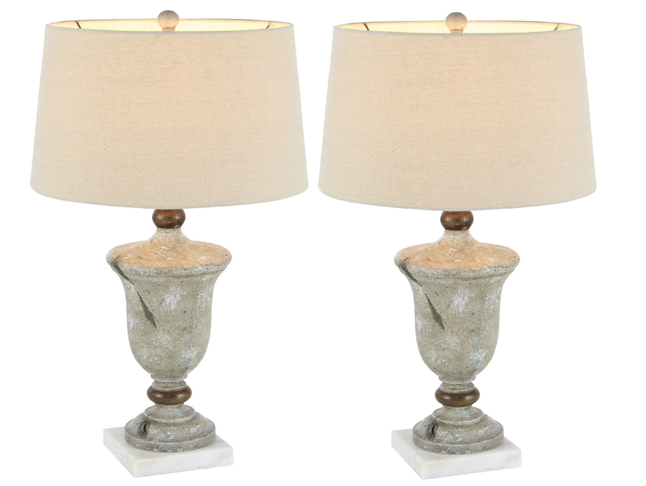 Urban Designs Rustic Polystone 30-Inch Table Lamp (Set of 2)