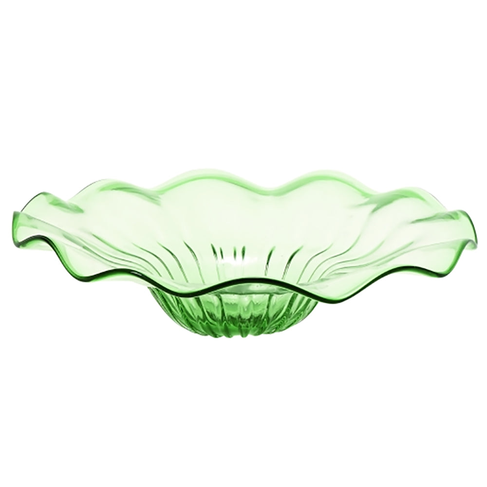 "Urban Designs 19"" Large Decorative Glass Bowl - Lime Green"
