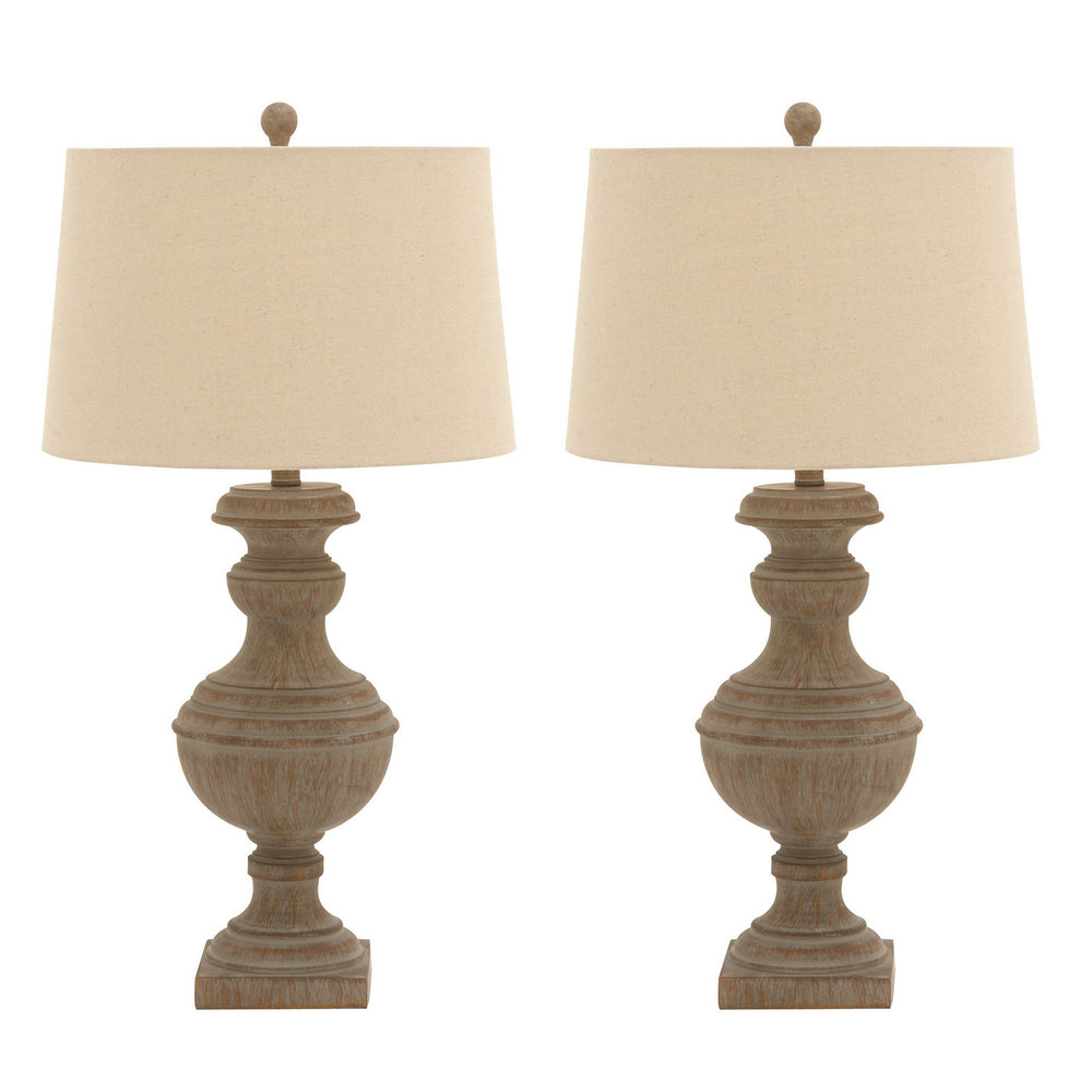 Urban Designs Urn Style Distressed 30-Inch Polystone Table Lamp - Set of 2