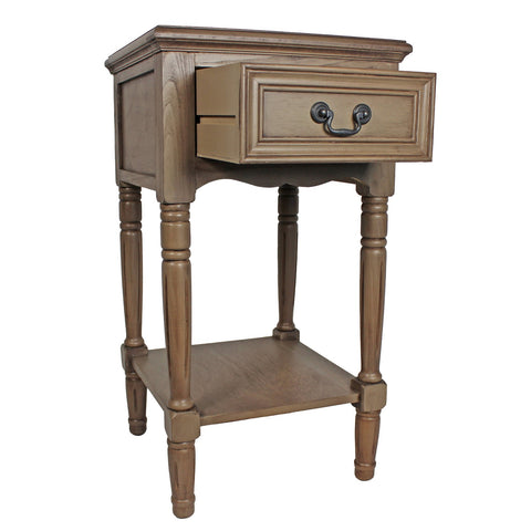 Urban Designs Solid Wood Night Stand Table - Light Brown