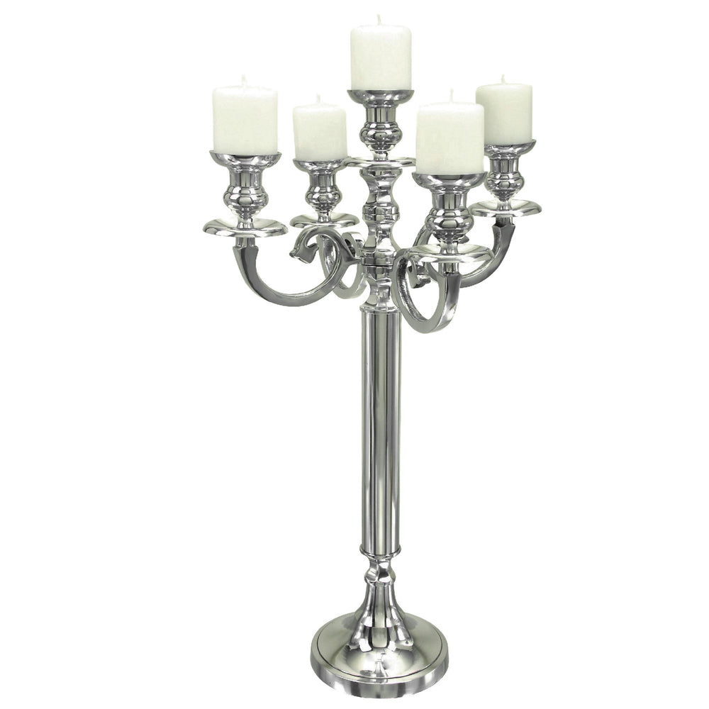 Urban Designs Grand Tall Aluminum 5-Arm Candelabra Candle Holder