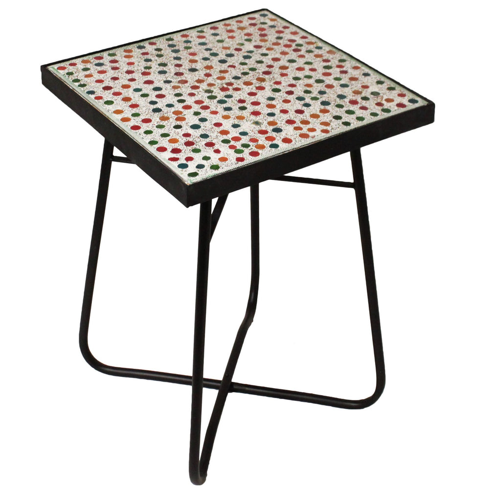 Urban Designs Color Mosaic Square Accent Table
