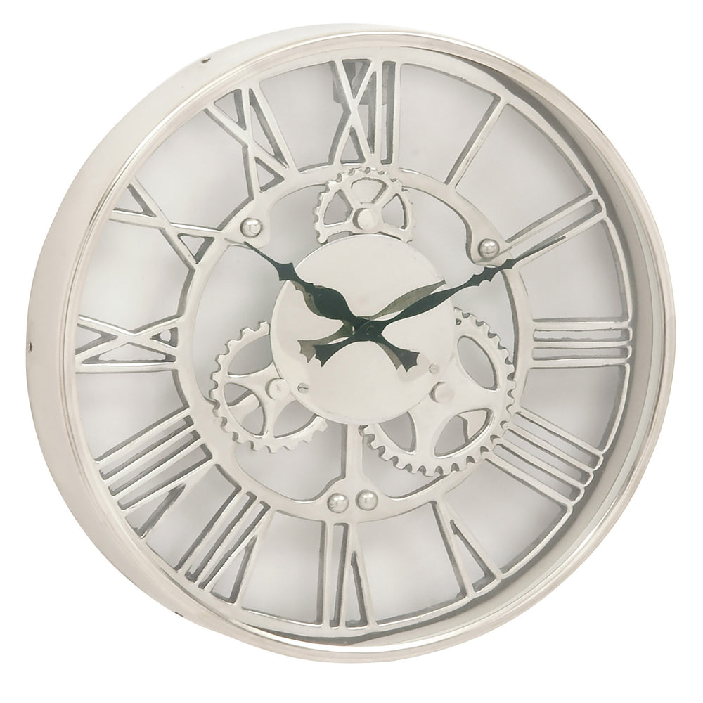 Urban Designs Gear Wheel Collection 14-Inch Aluminum Wall Clock