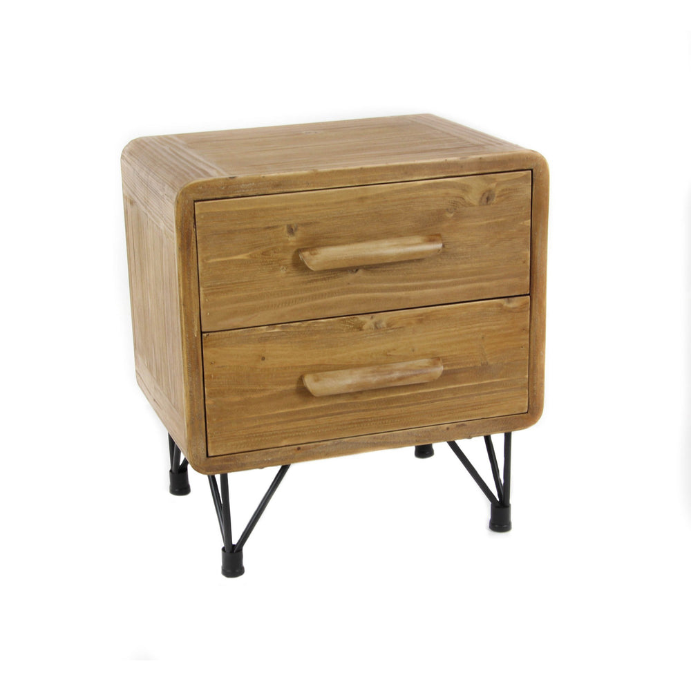 Urban Designs Dana Point Collection 2-Drawer Wooden End Table