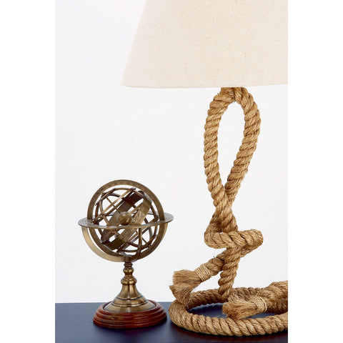 Urban Designs Engraved Brass Tabletop Armillary Nautical Sphere Globe