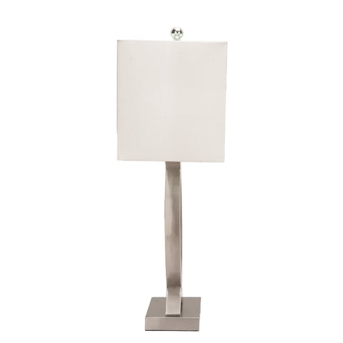 Urban Designs Sand Nickel 28-Inch Table Lamp with USB Port - 2 Piece Set