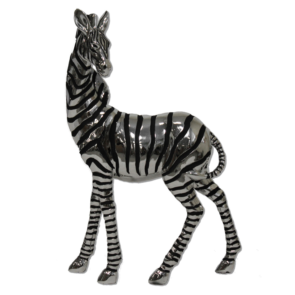 Urban Designs Grazing Silver Zebra Table Sculpture Decor