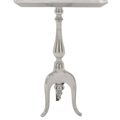 Urban Designs Stella Aluminum Rectangular Pedestal Tray Table