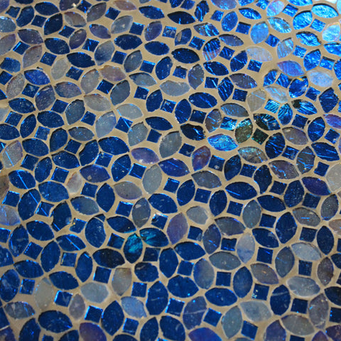 Urban Designs Moroccan Mosaic Mystic Blue Square Accent Table