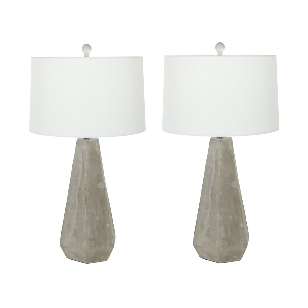 Urban Designs Rustic Couture Megalith 28-Inch 2-Piece Table Lamp Set
