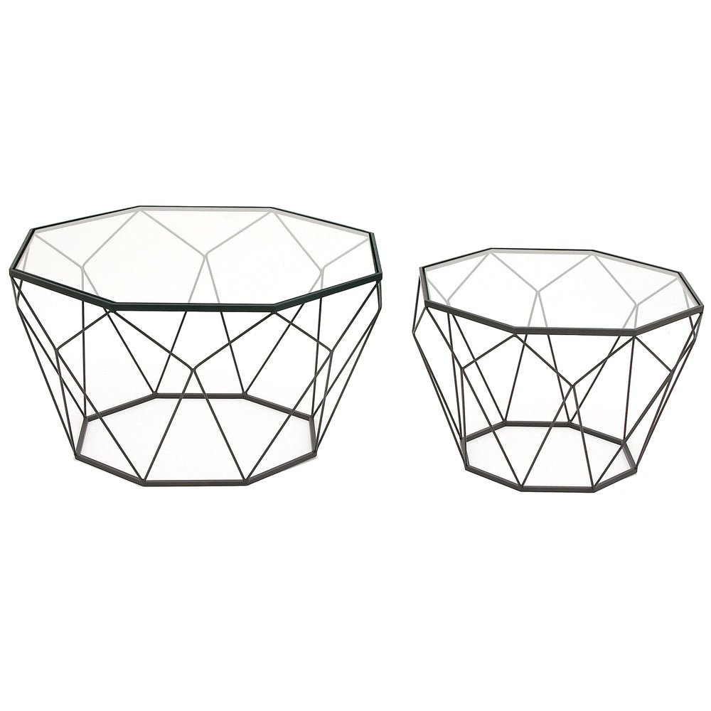 Urban Designs Modern Diamond Coffee and End Table - Set of 2