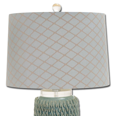 Urban Designs Handcrafted Ceramic Table Lamp - Seafoam Green