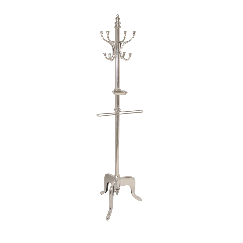 Urban Designs 70-Inch Aluminum Coat Rack - Silver