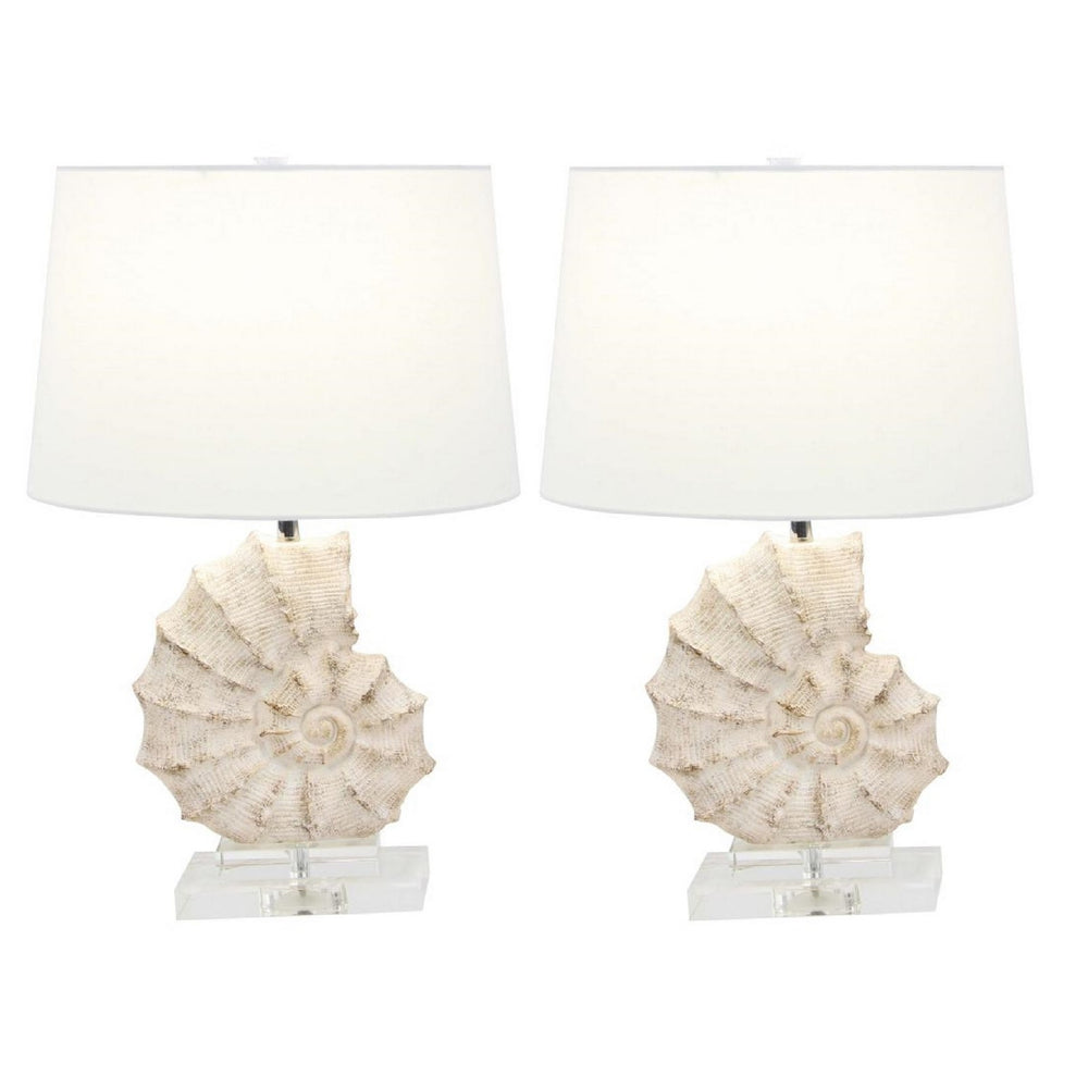 Urban Designs Coastal Sea Snail 24 Inch Table Lamp (Set of 2)