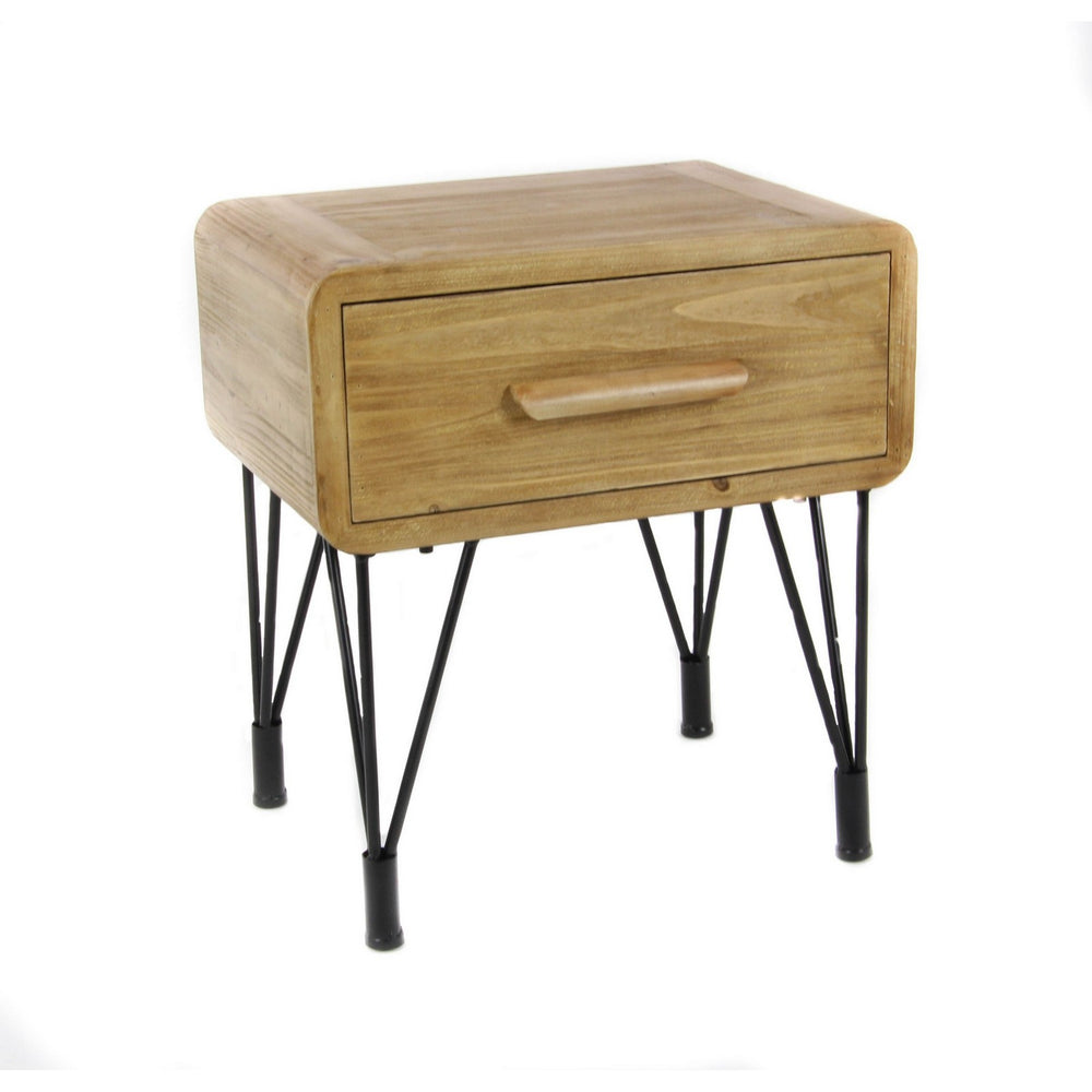 Urban Designs Dana Point Collection 1-Drawer Wooden Side Table