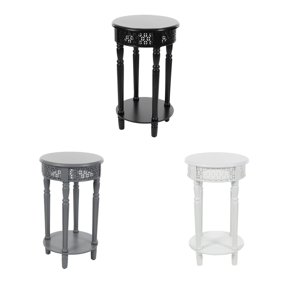 Urban Designs California Collection Wood Round Side Table