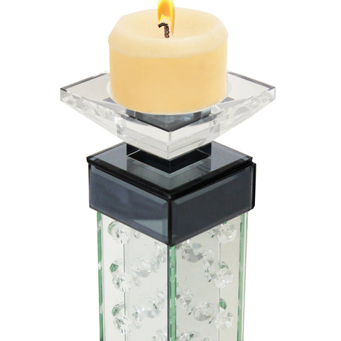 Urban Designs Crystal Towers Glass Candle Holder Set - Set of 2