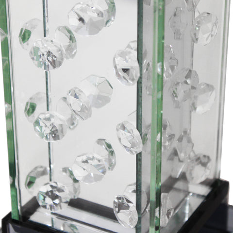 Urban Designs Crystal Tower Glass Candle Holder