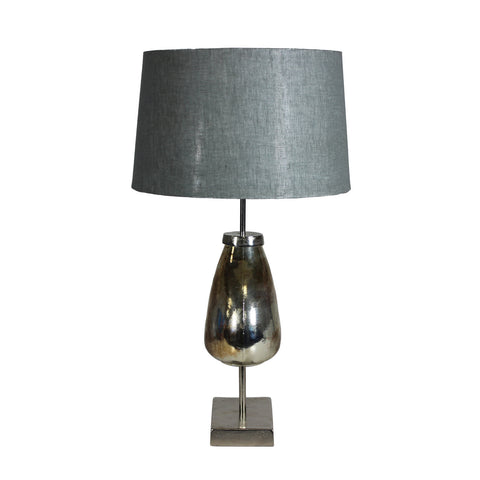 Urban Designs 26-Inch Rusted Ceramic Silver Nickel Table Lamp