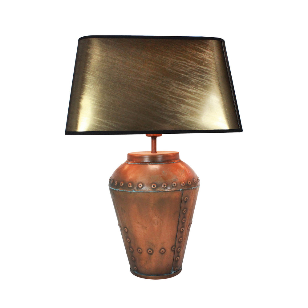 Urban Designs 23-Inch Antique Copper Metal Table Lamp