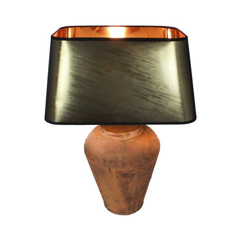 Urban Designs 23-Inch Rusted Bronze Metal Table Lamp