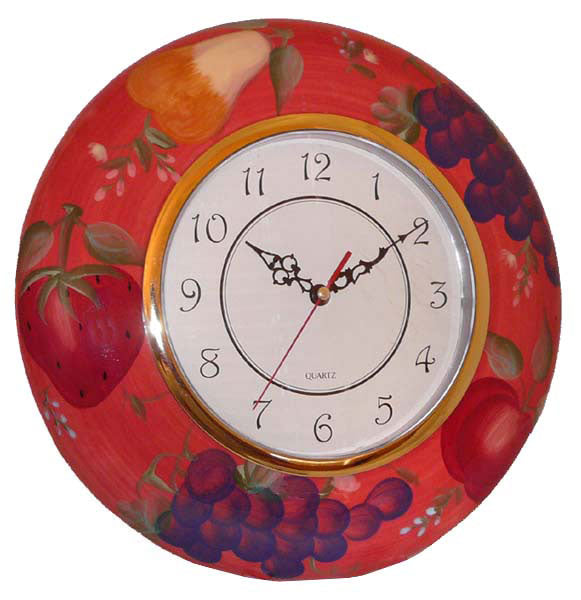 Sandy's Orchard Collection Hand-painted Wall Clock