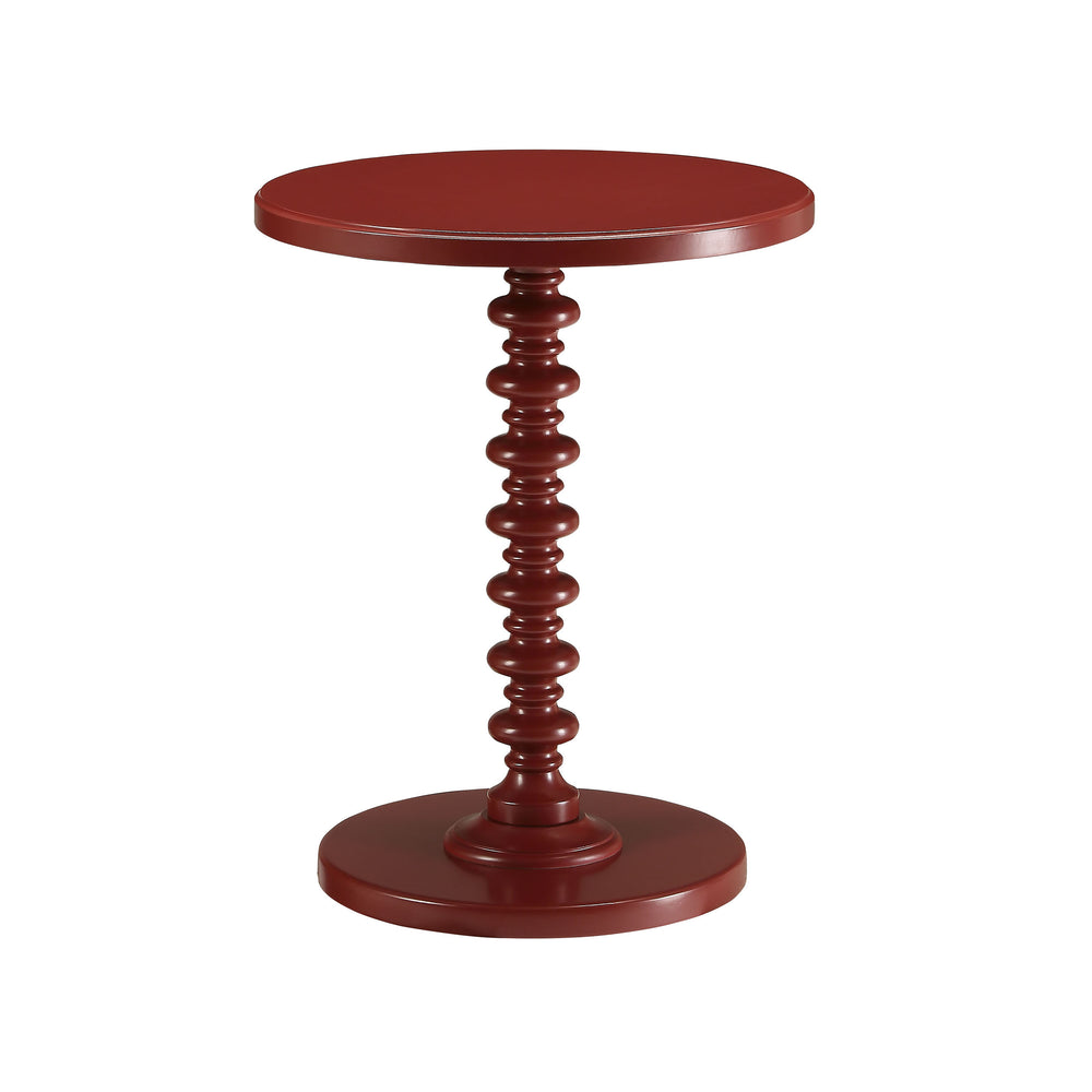 Urban Designs Kostka Wooden Accent Side Table - Red