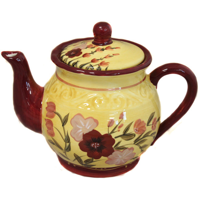 Floral Garden Collection Hand-Painted teapot