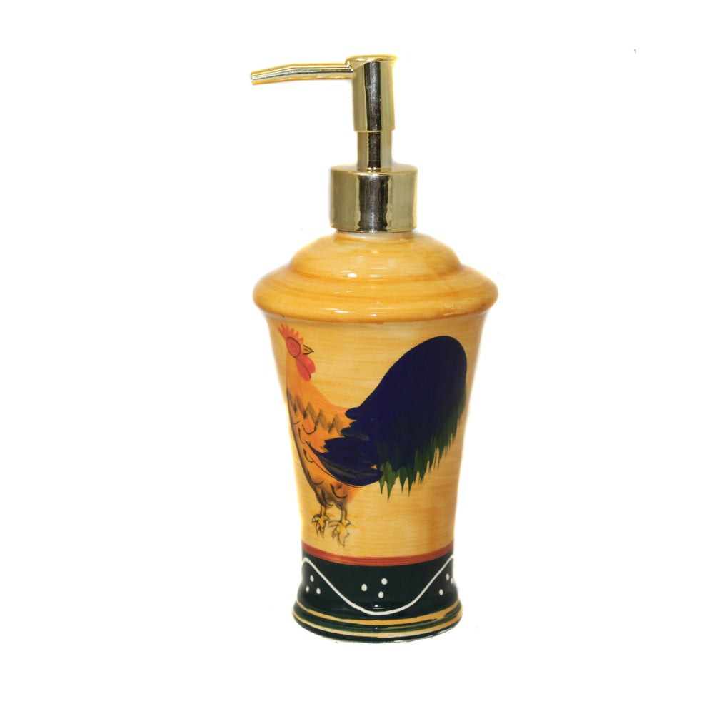 Classic Rooster Collection Deluxe Soap Lotion Dispenser
