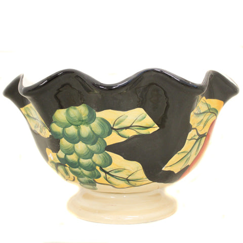 Casa Cortes Barcelona Collection Hand-Painted Ceramic Fruit Bowl