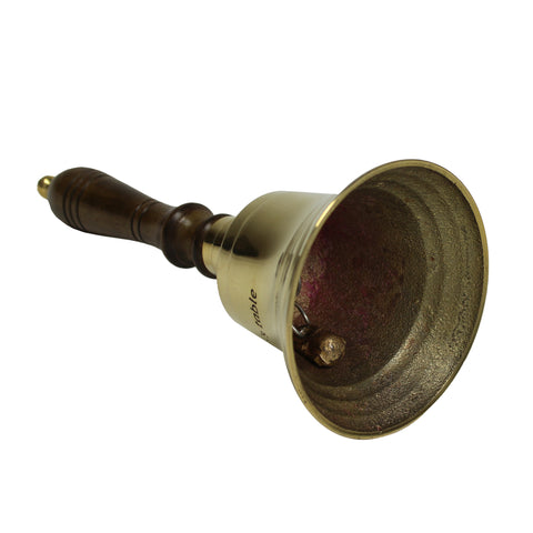 Urban Designs Handcrafted Engraved Antiqued Solid Brass 9-Inch Captain Bell