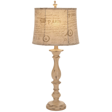 "Urban Designs French Connection Candlestick Style 34"" Table Lamp - Set of 2"