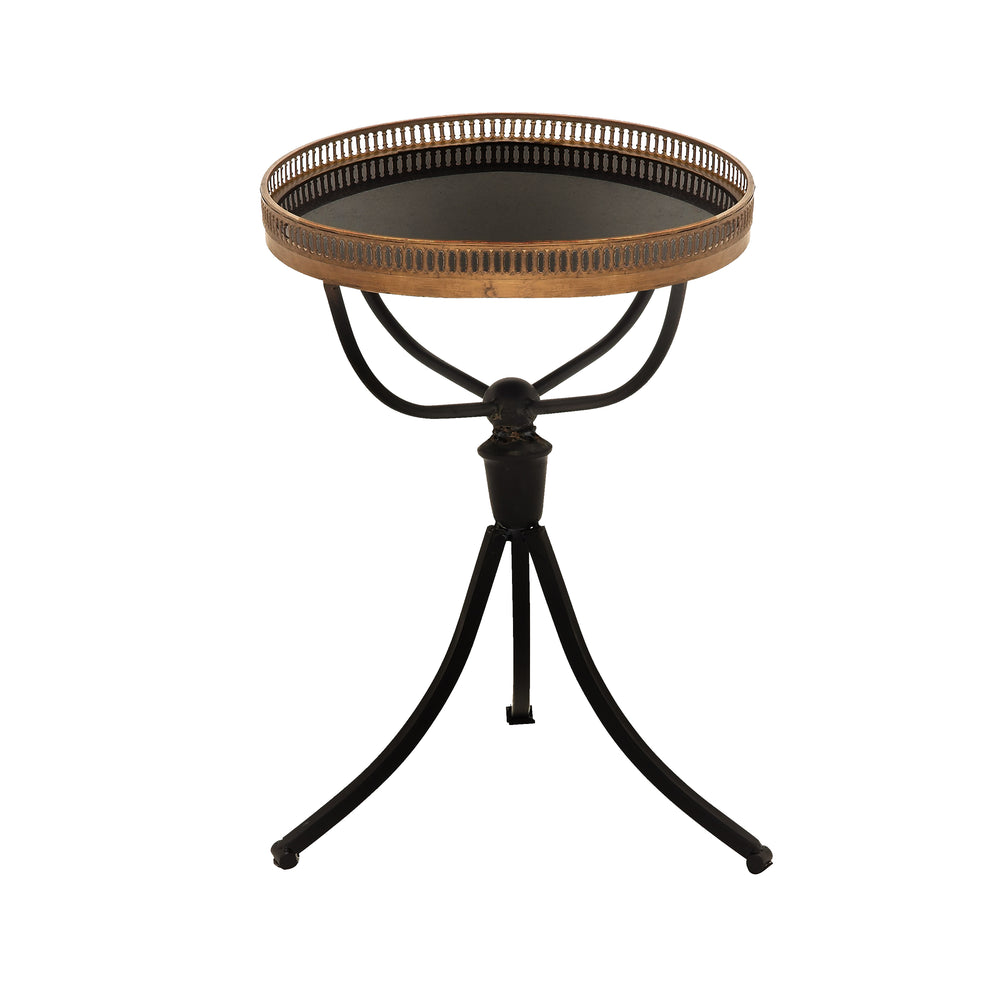 "Urban Design 23"" Classic Metal Marble Accent Table"