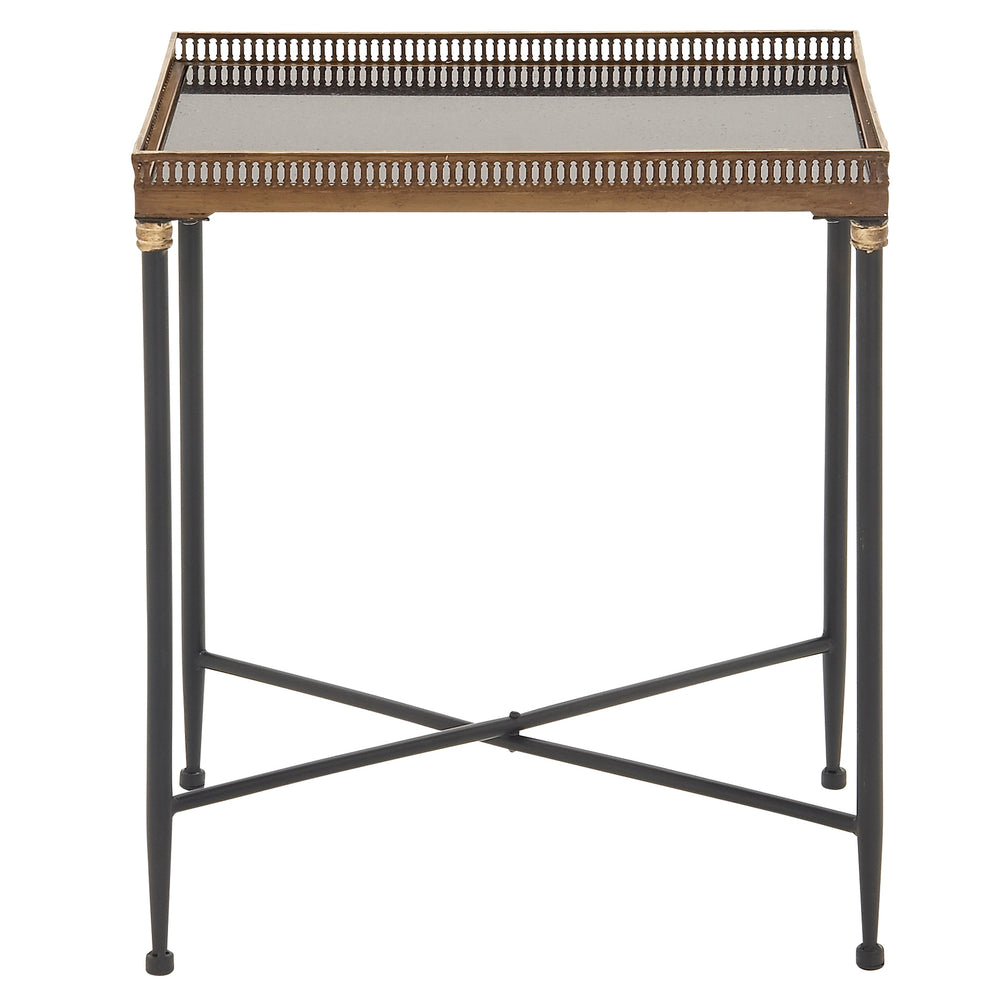 "Urban Design 25"" Classic Metal Marble Tray Table"