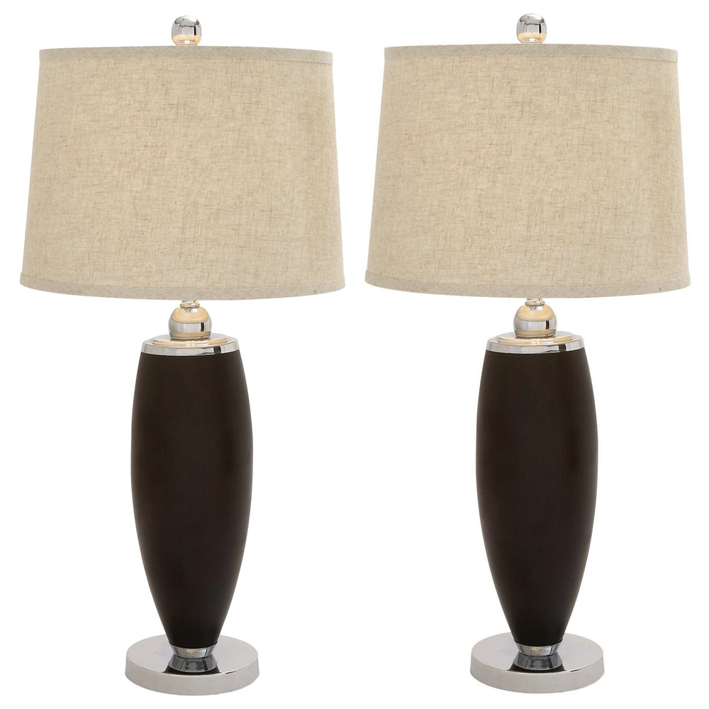 Urban Designs The Whitman Classic Polystone Table Lamp - Set of 2