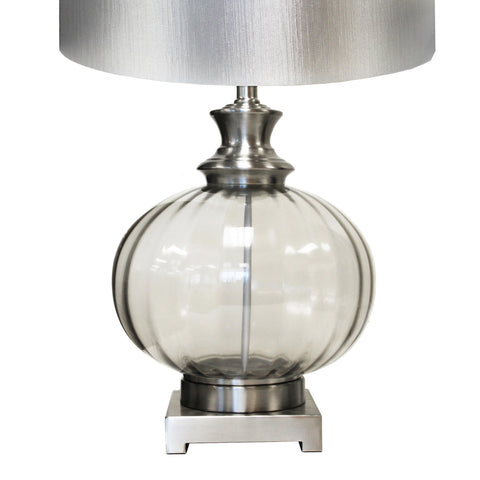 "Urban Designs Talia 28"" Metallic Glass Table Lamp - Set of 2"