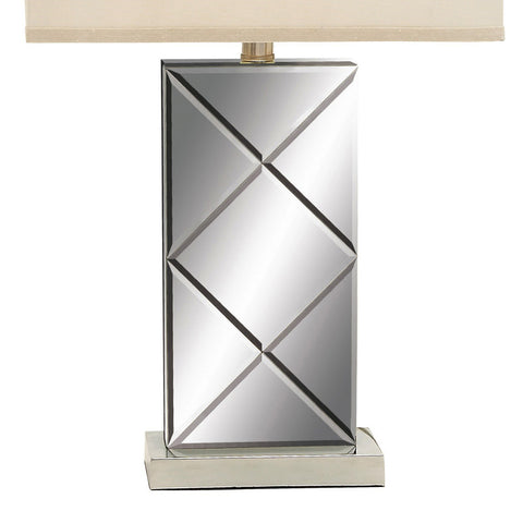 "Urban Designs Chrome Mirror 26"" Table Lamp - Set of 2"