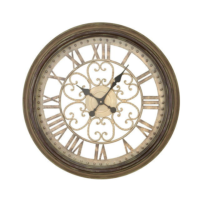 Victorian Inspired Hampton Metal Wall Art Clock