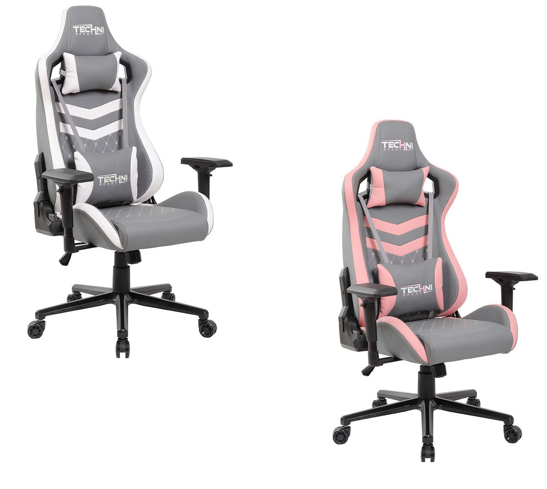 Modern Design Ergonomic High Back Racer Style Video Gaming Chair Two Tone