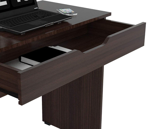 Inval Imported Modern Wooden Computer Writing Desk with Drawer - Espresso
