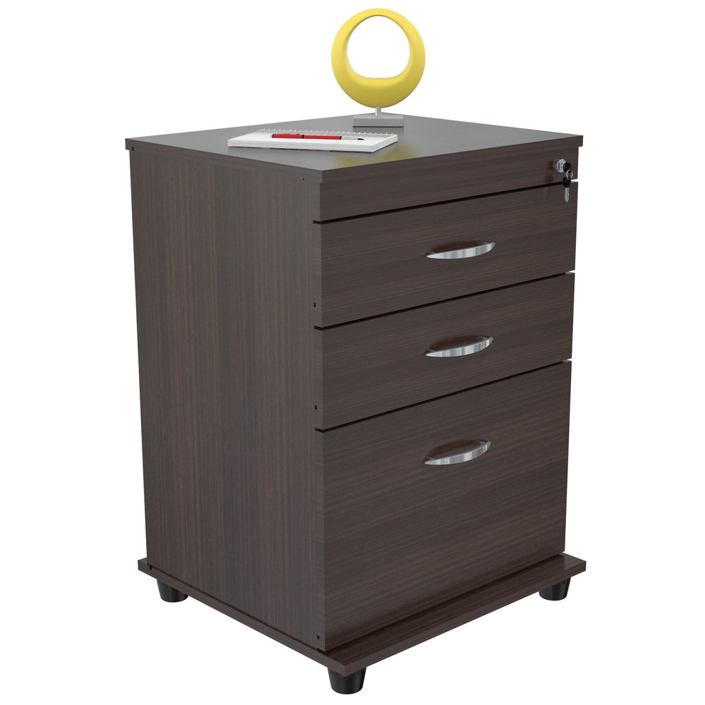Inval 3 Drawer File Cabinet - Espresso Wengue