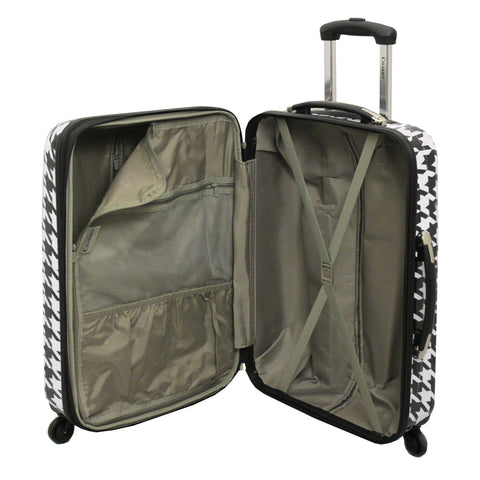 Chariot Houndstood 3-Pc Hardside Lite Expandable Spinner Luggage Set