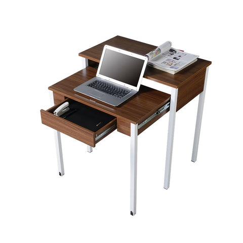 Modern Design Space-Saving Retractable Student Desk - Walnut