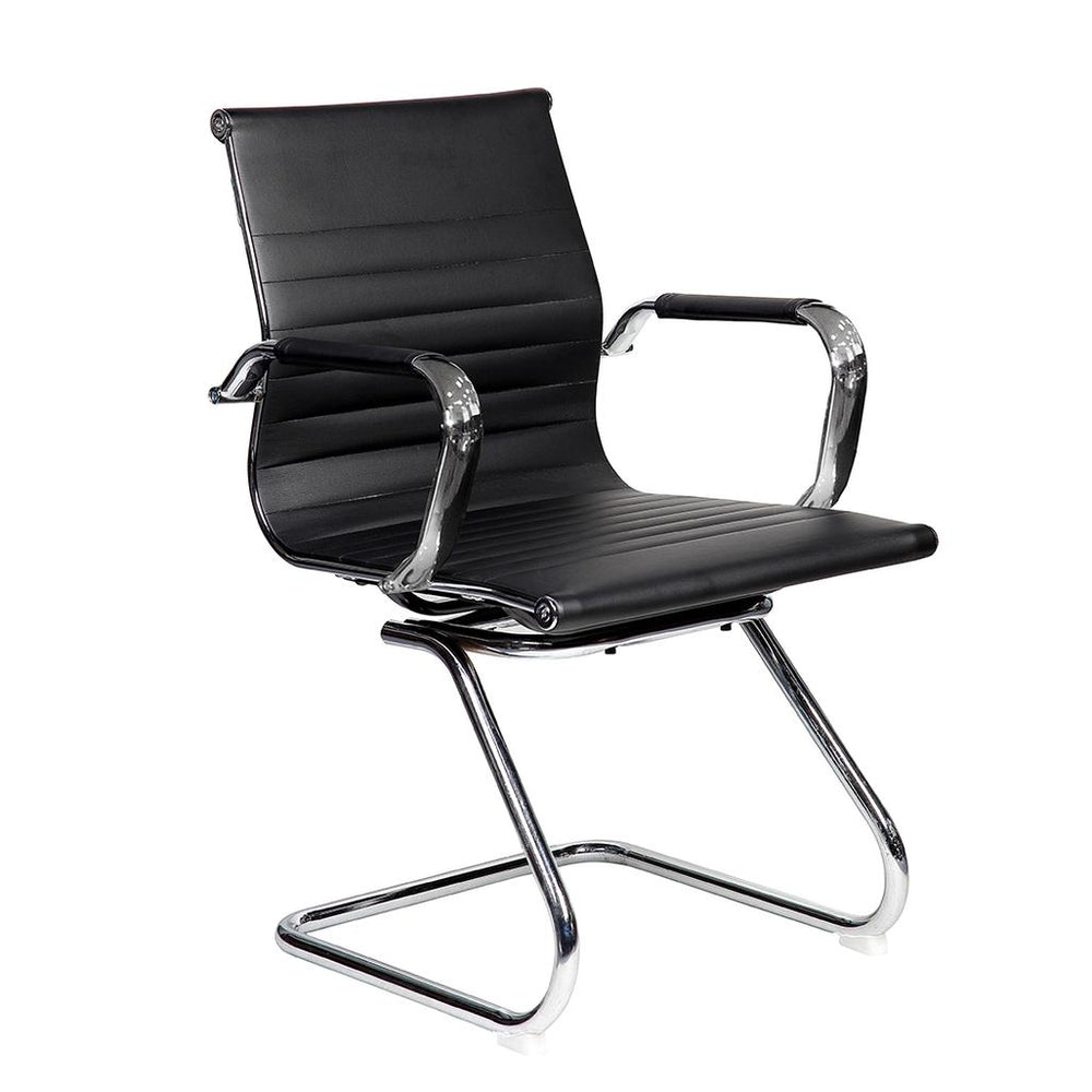 Office Express Visitor's Task Chrome Office Chair - Black