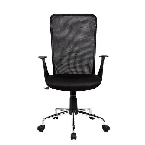 Office Express Medium Back Mesh Assistant Office Chair - Black